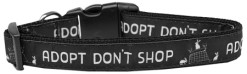 Adopt Don't Shop Nylon Adjustable Dog Collar