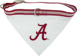 Alabama Crimson Tide bandana dog collar