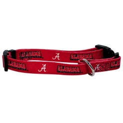 Alabama Crimson Tide nylon dog collar