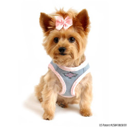 Blue Jeans and Pink Fur Choke Free Dog Harness