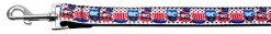 American owls and top hats red, white and blue dog leash