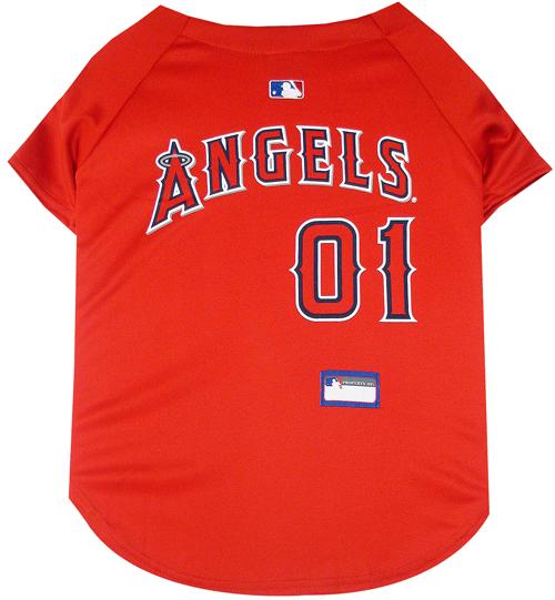 Angels dog jersey back