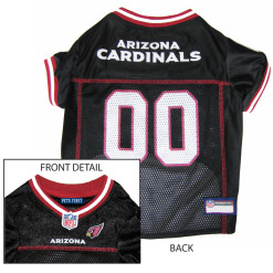 Arizona Cardinals NFL dog jersey