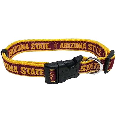 Arizona State University nylon dog collar