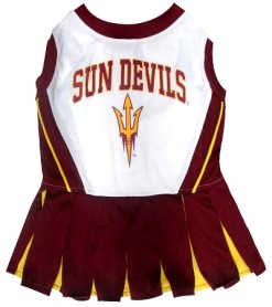 Arizona State Universy Sun Devils dog cheerleader