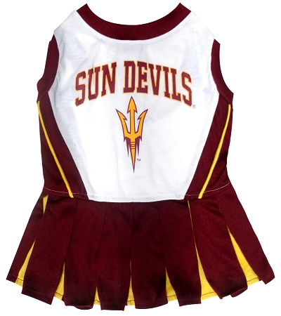 Arizona State Universy Sun Devils dog cheerleader