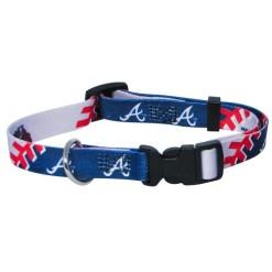 Atlanta Braves adjustable dog collar