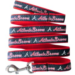 Atlanta Braves nylon dog leash MLB