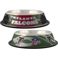 Atlanta Falcons NFL stainless dog bowl