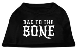 Bad to the Bone sleeveless dog shirt black