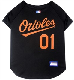 Baltimore Orioles MLB dog jersey
