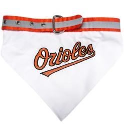 Baltimore Orioles baseball dog bandana and collar