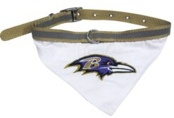 Baltimore Ravens NFL dog bandana and collar