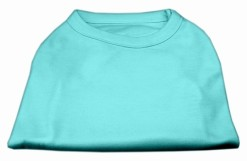 Basic Plain Aqua sleeveless dog shirt