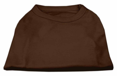 Basic Plain Brown sleeveless dog shirt