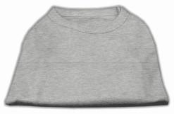 Basic Plain Gray sleeveless dog shirt