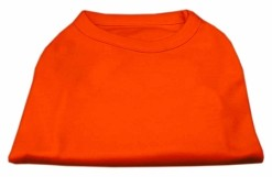 Basic Plain Orange sleeveless dog shirt