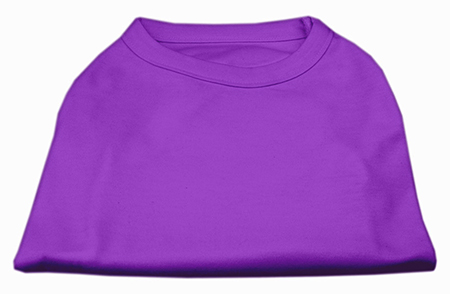 Basic Plain Purple sleeveless dog shirt