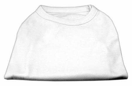 Basic Plain White sleeveless dog shirt