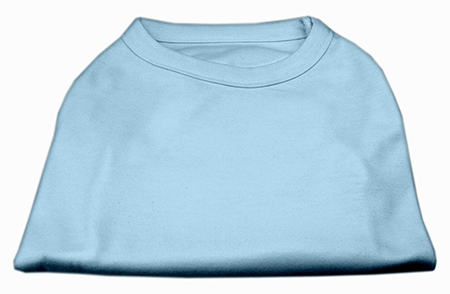Basic Plain baby blue sleeveless dog shirt