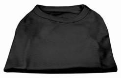 Basic Plain black sleeveless dog shirt