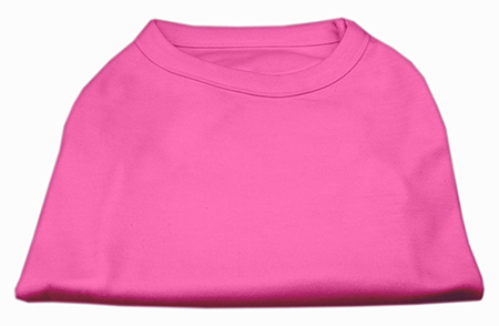 Basic Plain pink sleeveless dog shirt