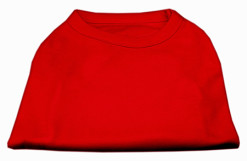 Basic Plain red sleeveless dog shirt