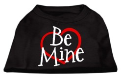 Be Mine sleeveless dog t-shirt black
