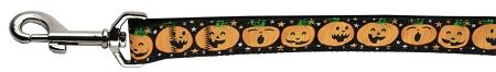 Black Jack-o-Lantern Facial Expressions dog leash pumpkin for halloween