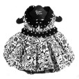 Black and White Floral Dog Dress