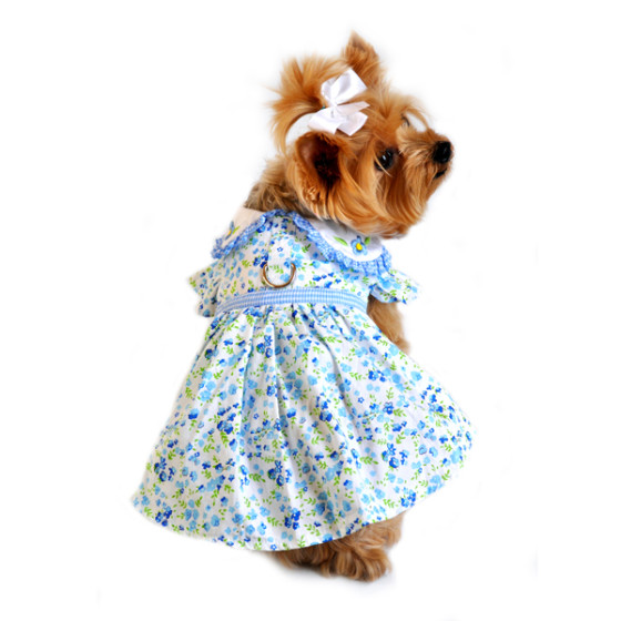Blue Belle Floral Dog Dress