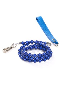 Blue Fabuleash Lumi Bead Dog Leash