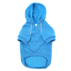 Blue Sport Dog Hoodie front
