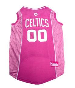 Boston Celtics Pink NBA Dog Jersey
