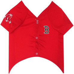 Boston Red Sox dog jersey front