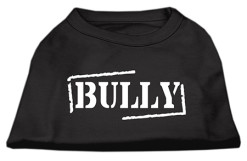 Bully sleeveless dog t-shirt black