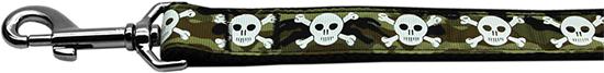 Camouflage Adjustable Dog Leash with Skulls