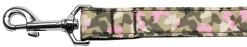 Camouflage pink Butterflies nylon dog leash