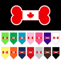 Canadian bone flag dog bandanas