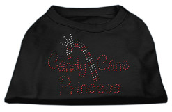 Candy Cane Princess rhinestone dog shirt black