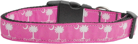 Carolina Girl Nylon Webbing Dog Collar