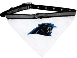Carolina Panthers NFL dog bandana and collar
