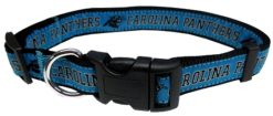 Carolina Panthers NFL nylon dog collar
