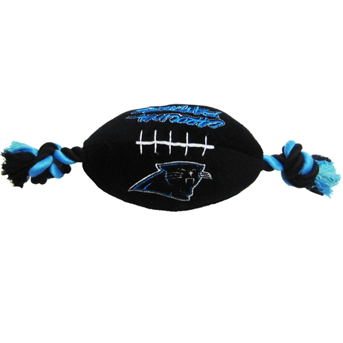 Carolina Panthers NFL plush football dog toy