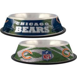 Chicago Bears NFL Stainless dog bowl