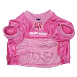 Chicago Bears pink dog jersey front