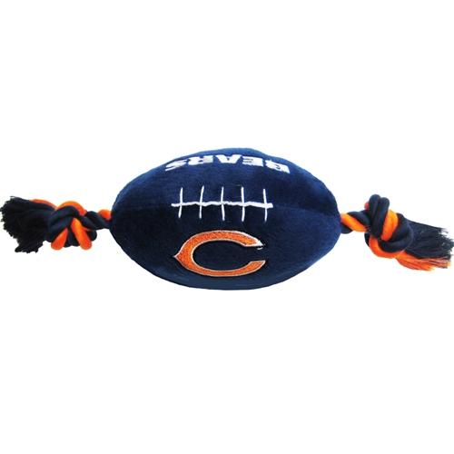 Chicago Bears plush football NFL dog toy