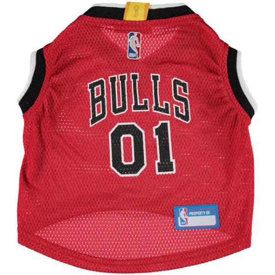 Chicago Bulls NBA Dog Jersey front