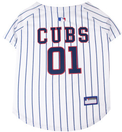 Chicago Cubs dog jersey back