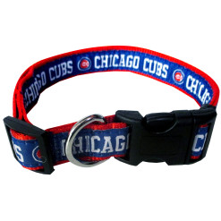 Chicago Cubs nylon dog collar